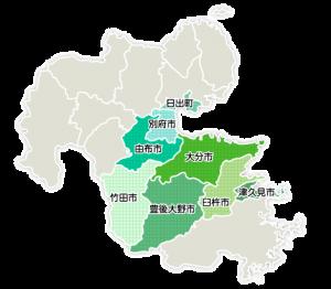 大分都市広域圏マップ